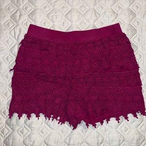 Express brand lace shorts